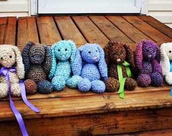 Handcrafted crochet bunnies