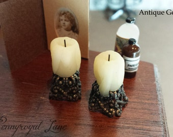 Handmade Pillar Candle Dollhouse Miniature, 1:12th, 1/12th