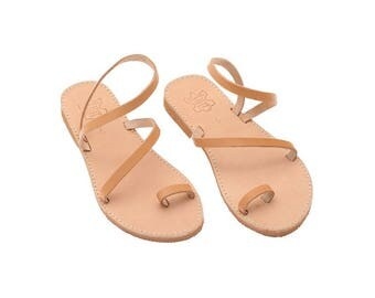 Women sandals, Leather sandals, Toe ring Strappy Sandals, Sandals for women, Greek Summer sandals