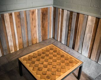 Unique Coffee/lounge Table. A Standout Design, Handmade And Glows In The Dark. End grain Table, Can Customise The Size