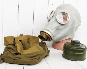 Soviet gas mask Filter respirator Halloween scary mask Soviet army gas mask Soviet uniform Halloween mask Soviet military