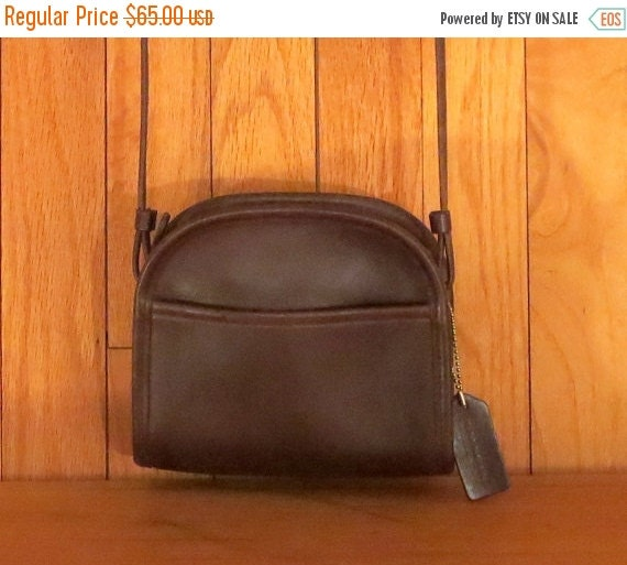 Football Days Sale Coach Abbie Zip Crossbody Mocha Leather Bag- Made In U.S.A. - Excellent Condition