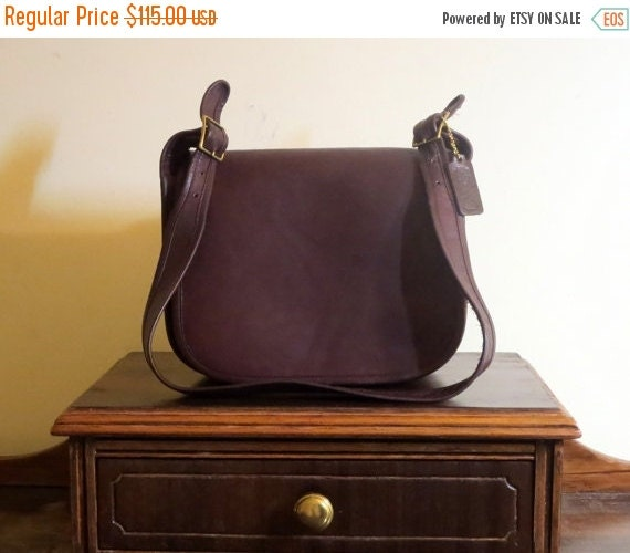 Football Days Sale Coach Classic Shoulder Bag -Mocha Brown Leather - Made in New York City - VGC