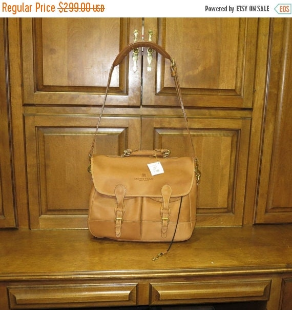 Football Days Sale Price Reduced ! Muholland Bridle Tan Leather Angler's Bag- Worlds Hardest Working Bag-With Tags- No AL305-LAR- Promo Swag