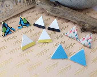 The Triangle, Stud Earrings