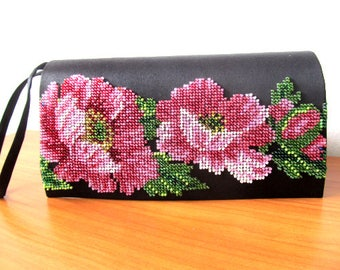 black clutch evening bag women clutch beadwork