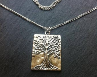 "Tree of Life 18"" Silver Plated Necklace"