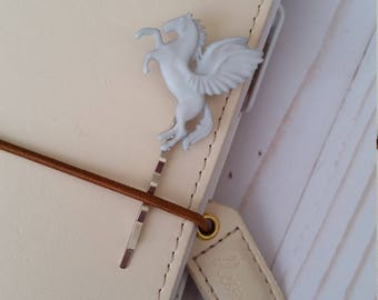 Pegasus Planner Pin / Page Pin / Planner Decoration / Decorated Bobby Pin / Travelers Notebook Pin / Hair Clip