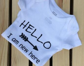 Newborn Announcement Onsie