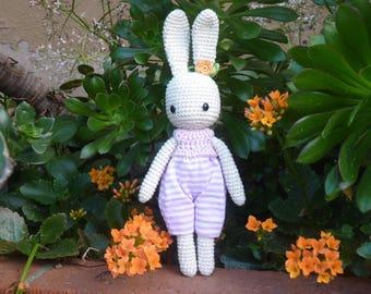 Bunny, little crochet bunny, Angie bunny, 10 inches, Amigurumi bunny, bunny doll
