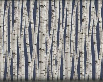 Timeless Treasures Quilting Cotton Fabric Birch Trees 126603 - 1/2 Yard