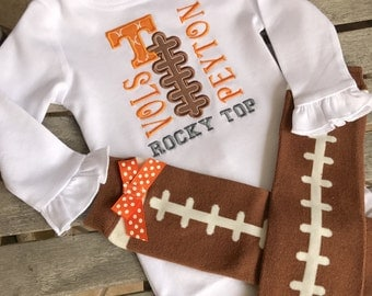 Baby Onsie | Tennessee Onesie | Football Stitches | Football | Baby Boy |Baby Girl | Georgia Baby | Boys Clothes | UT Baby | Vol Baby
