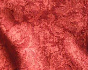 """Dark Melon Colored Jacquard Damask Fabric, 41"""" by 54"""" Wide"""