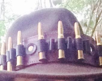 Custom Leather HAT Bandolier, genuine lather, holds 30-30 caliber rifle cartridges.