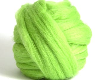 Merino 1 Pound - Dyed Merino Wool - DIY Giant Blanket - Leaf Green Merino - Arm Knitting - Chunky Yarn - Giant Blanket 28