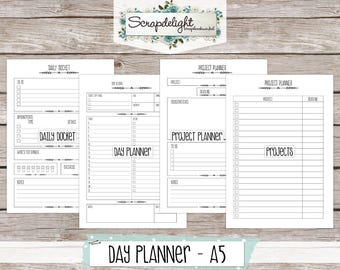Scrapdelight Planner Kit 2017 - Clean - A5 Day Planner