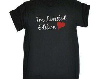 Funny Christmas Gift Men's I'm Limited Edition Heart T-SHIRT / top unisex women's slogan Xmas Present