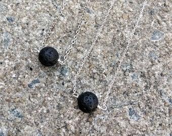 Lava Diffuser Necklace - Lava Stone Diffuser- Essential Oil Diffuser Necklace - Lava Bead necklace - Aromatherapy necklace- Gift for her