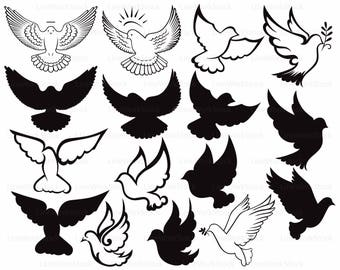 Dove svg,dove clipart,dove svg,Peace Dove silhouette,pigeon cricut,dove cut files,dove clip art,bird digital download,svg,designs