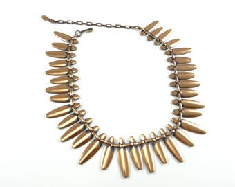 Copper Rame Renoir Matisse Necklace, Vintage Copper Necklace, Copper Tribal Necklace, Vintage Necklace