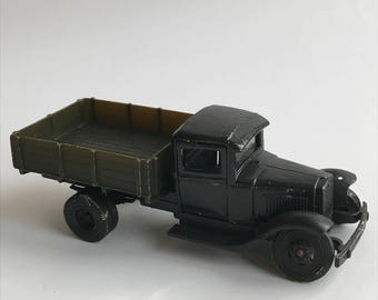 Soviet vintage toy military car  - Vintage toy car from USSR - Made in 1980s