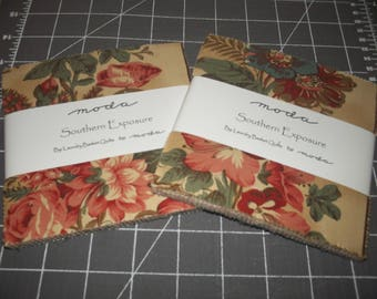 "2 Moda Charm Packs ~ Southern Exposure ~ (84) 5"" Cotton Quilt Squares"