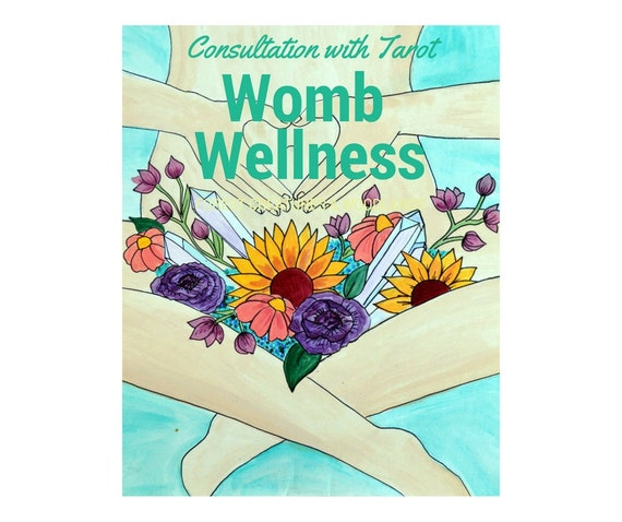 Womb wellness and health consultation with tarot reading PDF included