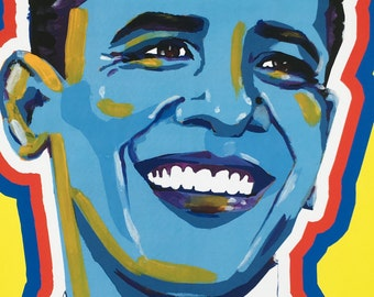 BARAK OBAMA 44th President art print