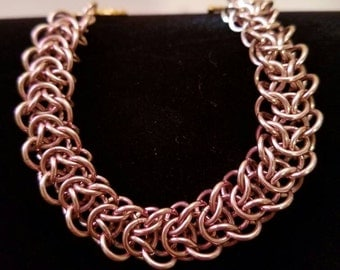 Champagne Elfweave Chainmaille Bracelet