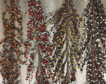 Extra Thick Pip Berry Garland 48""