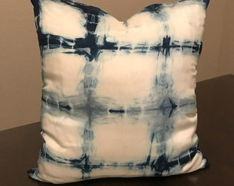 Shibori Silk Pillow - 16 x 16