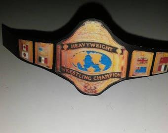 80s wrestling championship belt