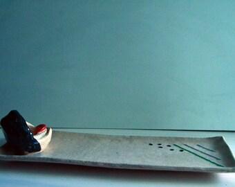 Whale Sushi plate - Unique handmade ceramic platter