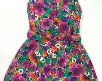 1950's Catalina Swimsuit/Romper Size XS Small 2 4