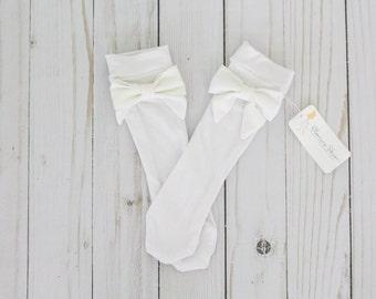 Flower Girl Dress. Toddler Knee Socks. Knee High Socks. Pageant Dress. Flower Girl Gift. First Birthday Girl Outfit. Birthday Gift for Her.