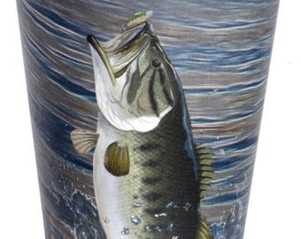 Bass Fishing Party 12 oz Cups/Bass Fishing Themed Cups/Lake Party Cups/ Fish Fry Cups/Fishing Retirement Party Cups