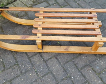 REDUCED Vintage French Wooden Sleigh
