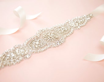 Bridal belt - bridal sash - crystal sash - wedding sash - rhinestone sash - wedding belt - rhinestone bridal belt - bridal sashes and belts