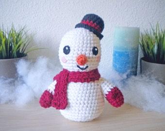 Crochet Snowman Winter Holiday Decoration