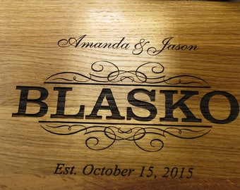 Personalized Cutting Board - Custom Engraved - Wedding Gift Family Name Housewarming Gift Anniversary Gift Family Name Board Bridal Shower