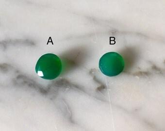Loose Green Onyx Gemstones