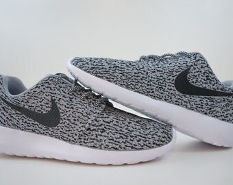 New Custom Nike Roshe Run Yeezy 350 Boost Inspired Yeezy laces Made to Order Adidas Yeezy 350 Boost