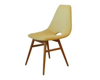 Reupholstered 60's Mid-Century vintage design retro chair