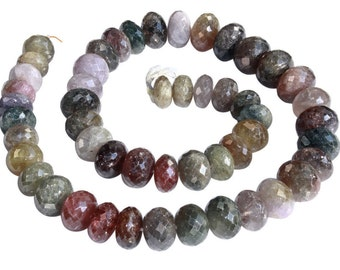 22 IN Strand 15-19 mm Sapphire Rare Large Rondelle Faceted Multicolor Gemstone Beads (SH100116)