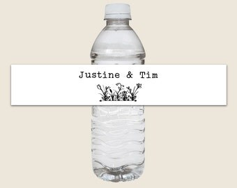 Set of 30 - Water Bottle Labels (Vinyl Weatherproof) - Wedding Welcome Gifts, Personalized Water Bottle Stickers, Custom Labels, Welcome Bag