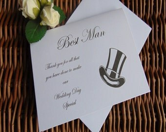 Thank you for being my best man card, best man card, wedding day, weddings, Thank You Card, Wedding Thank You Card, from the groom
