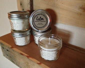 Mason Jar Candle | CALM { lavender • rosemary } | Non Toxic Soy Candle
