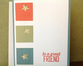 Handmade card- all occassion- life is good- male or female- blank card-friendship card- friend card