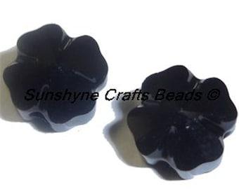 Swarovski Crystal Beads 4 Pcs 5752 JET BLACK Clover Faceted Bead 8MM