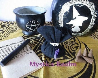 Mojo Bag Set ~ Hoodoo Mojo Bag ~ Voodoo Mojo Bag ~ Witchcraft Mojo Bag Set ~ Gris Gris Bag ~ Witchcraft Supply ~ Mystics Realm